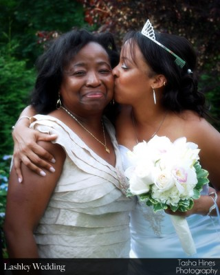 Lashley Wedding: Bride and Mom