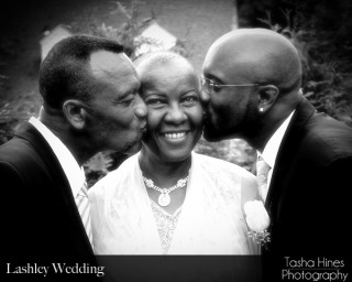 Lashley Wedding: Groom with Parents