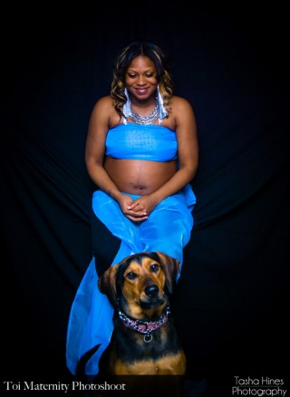 Toi and Jada (my dog) at Photoshoot