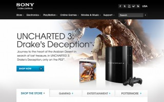 Sony.com Hero