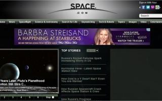 Space.com Website